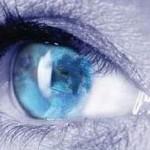 Auge fokusiert Ziel